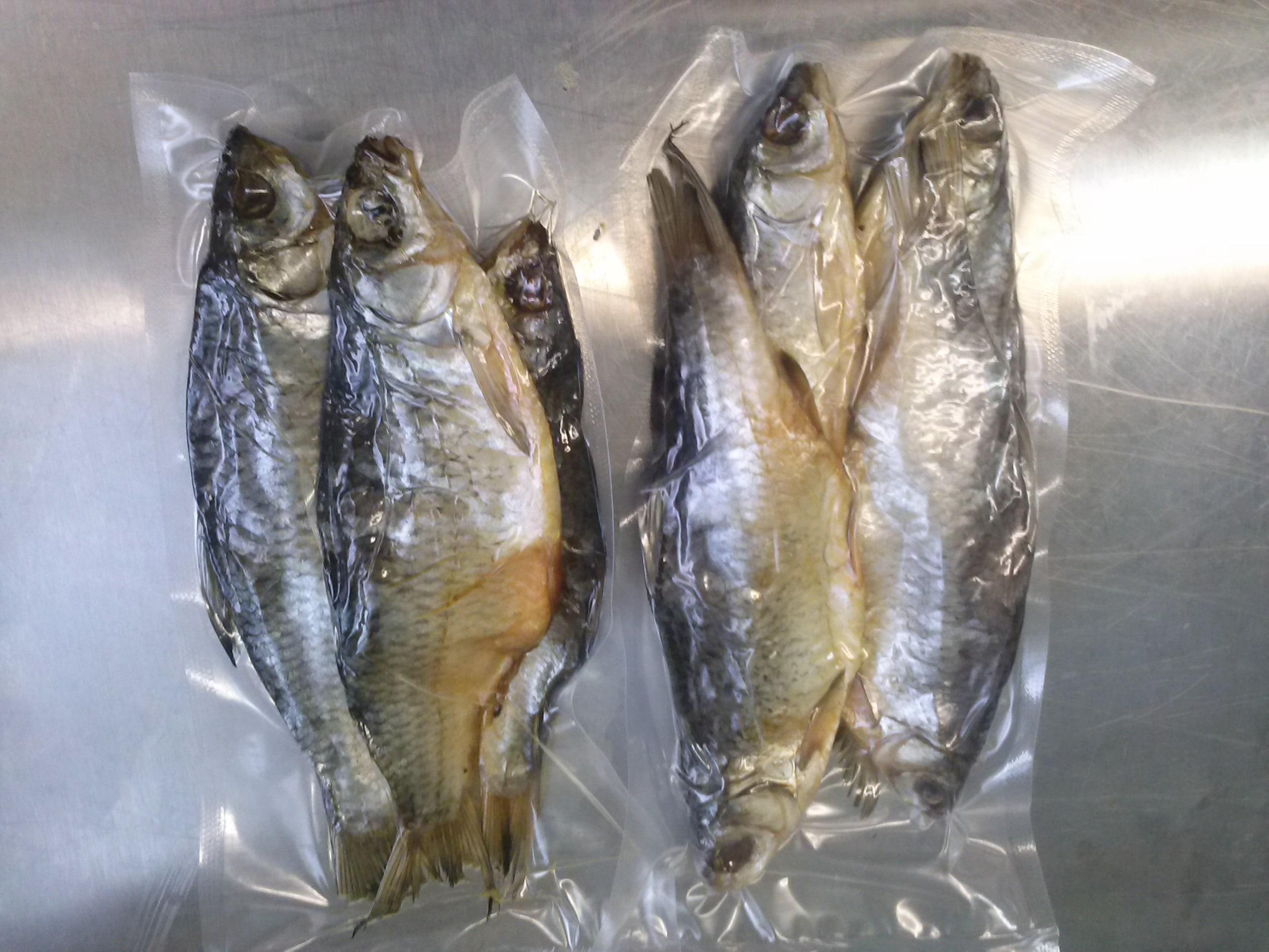 Вяленая рыба в вакуумном пакете