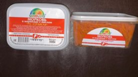 Морковь в маринаде с маслом